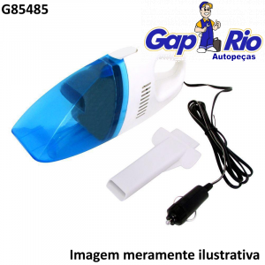 Mini Aspirador de Pó Portatil Universal Automotivo 12v